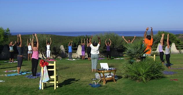 Meditation, morning yoga, Italy, Sardinia