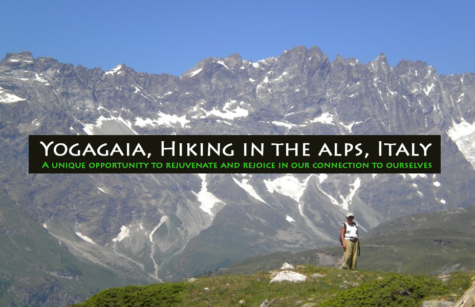 Yoga, hiking, meditationg in the Italian Alps, Yogagaia 2010