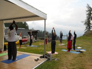 pictures of Cheneil Yogagaia session and workshop