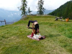 pictures of Cheneil yoga in pair