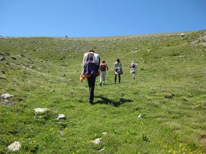pictures of Cheneil hiking in group