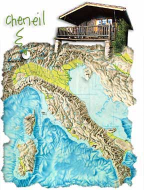 Cheneil map, Italian Alps