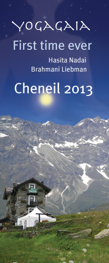 Yogagaia, Cheneil flyer, Yoga and life 2013