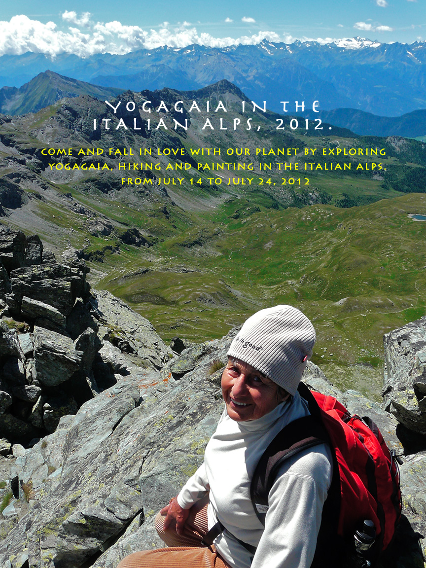 Yoga and painting, Yoga and hiking in the Italian Alps